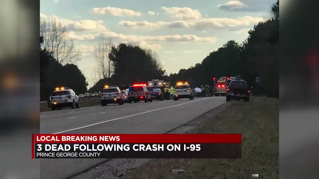 Police identify 3 people killed in I-95 head-on crash