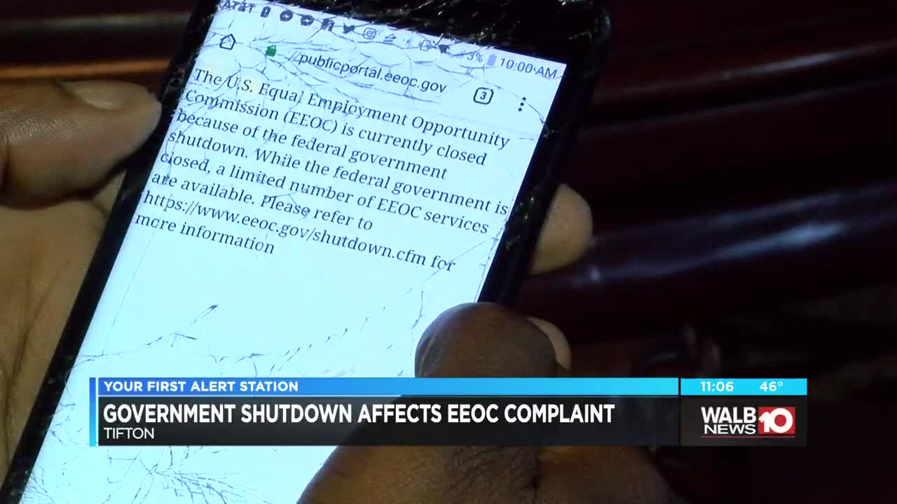 South Georgia man can't access EEOC complaint because of