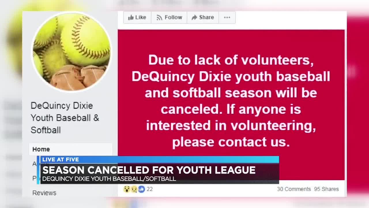 DeQuincy-area youth sports league cancels season due to lack