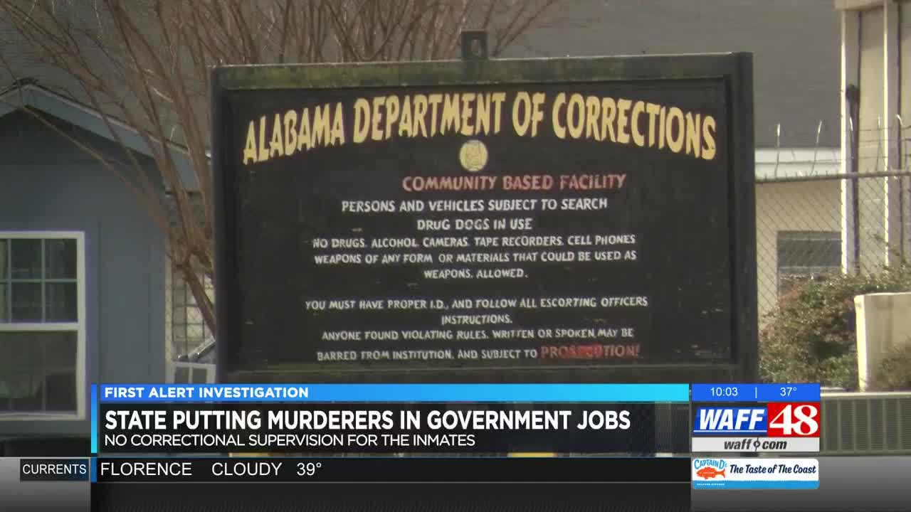 Alabama corrections putting murder convicts in public