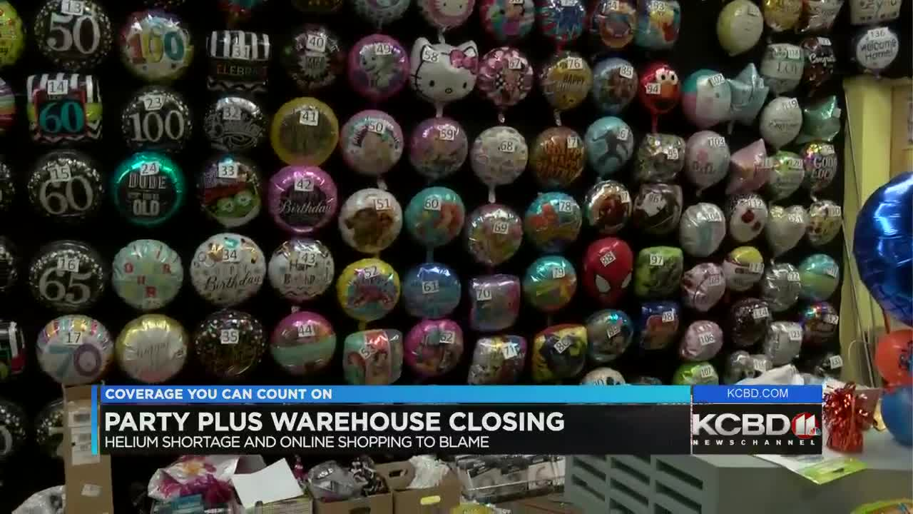 "Image result for Helium shortage, online shopping put Party Plus Warehouse out of business Helium shortage and Amazon put Party Warehouse out of business    By Sydney Kessler | January 14, 2019 at 10:44 PM CST - Updated January 14 at 11:10 PM LUBBOCK, TX (KCBD) -A nationwide helium shortage is deflating a local party business, along with the rising use of online retailers like Amazon. As a result, that decades old one-stop-shop for party supplies announced it is going out of business.  From balloons, to baby shower supplies, wedding cake toppers, and plates, if you want it for a party, the Party Warehouse probably has what you're looking for.  Their most popular item though has to be the balloons, but now that item that keep them afloat, may be grounded indefinitely.  Kim Hodges, one of the owners of the warehouse says right now, ""only national contracts can get helium right now and the majority of those are obviously your hospitals, there are some chain stores that had a national contract and are able to get some helium but not as much as they're used to as well, so we have been out of helium since November.""  That shortage stemming from several factors, including sanctions on overseas supplies, and lower U.S. production, but balloons aren't the only thing hurting business.  ""A lot more people shopped on Amazon instead of getting out and coming into the store,"" says Hodges. ""And the thing with Amazon sales is you have 30 days and you can turn it back, and I know probably a lot of people bought their costume, wore it and send it back....It's hard these days for brick and mortars especially when you have such a big building , you've got your rent your utilities, your employees.""  Now they're looking for someone else to takeover. ""We don't have a new buyer yet, we have about three people that are interested,"" adds Hodges.  While no buyers have made any offers at the Party Plus Warehouse, at Gales Wedding Rentals and First class Tuxedo, recent talks have made them optimistic for the future.  ""We do have a couple of potential buyers"