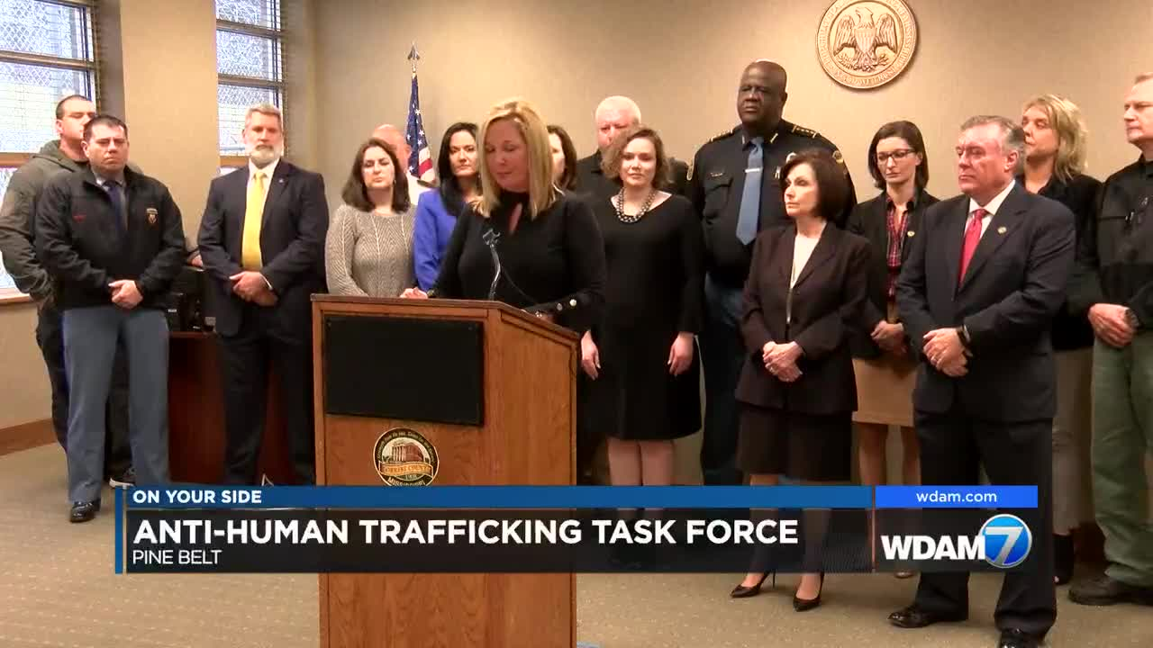 Law Enforcement Agencies Launch Pine Belt Anti Human Trafficking
