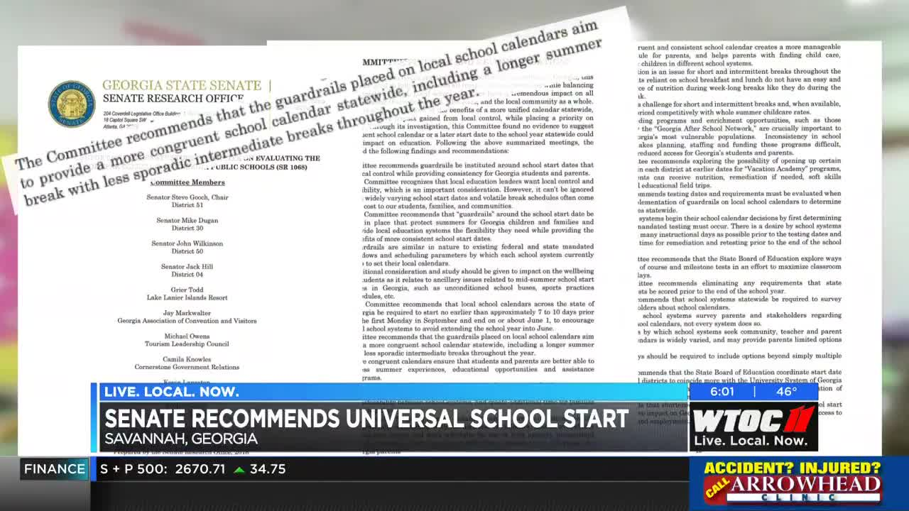 """SCCPSS Board President: Universal school start date """"the worst thing"""
