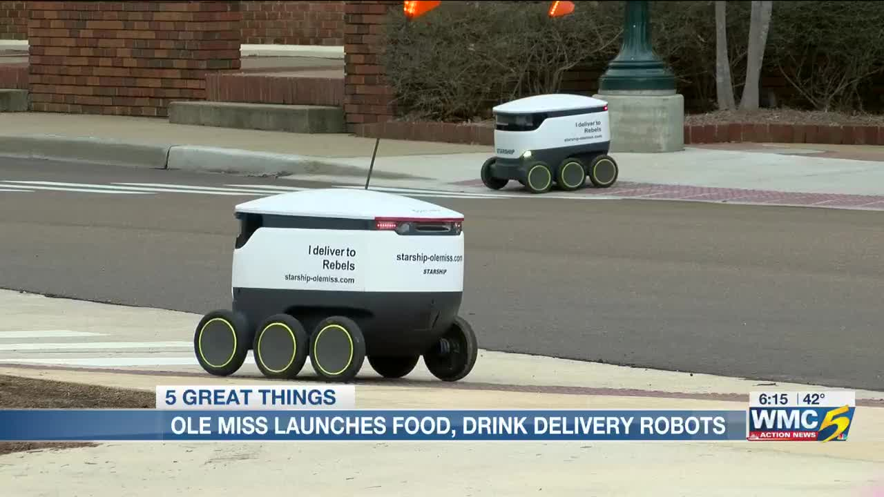 Ole Miss launches food, drink delivery bots