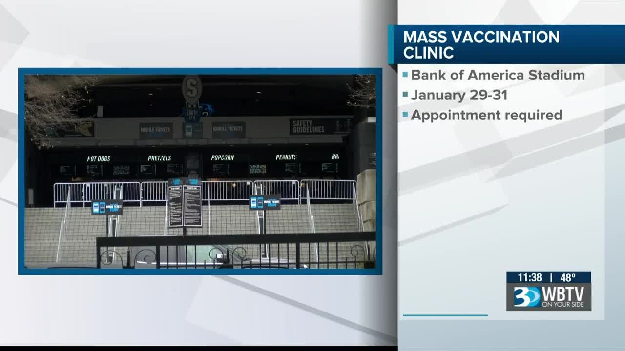 Mass Covid 19 Vaccination Clinic To Be Held At Bank Of America Stadium Jan 29 31