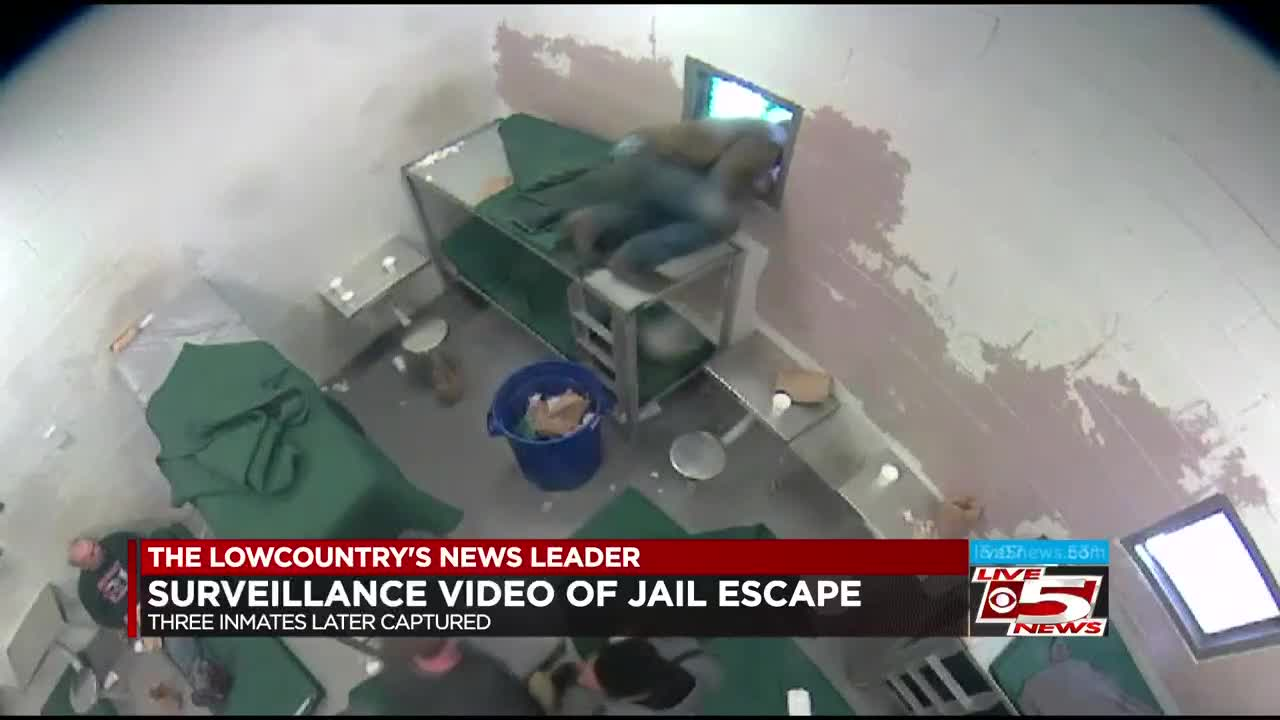 Surveillance video released of Berkeley County inmate escape