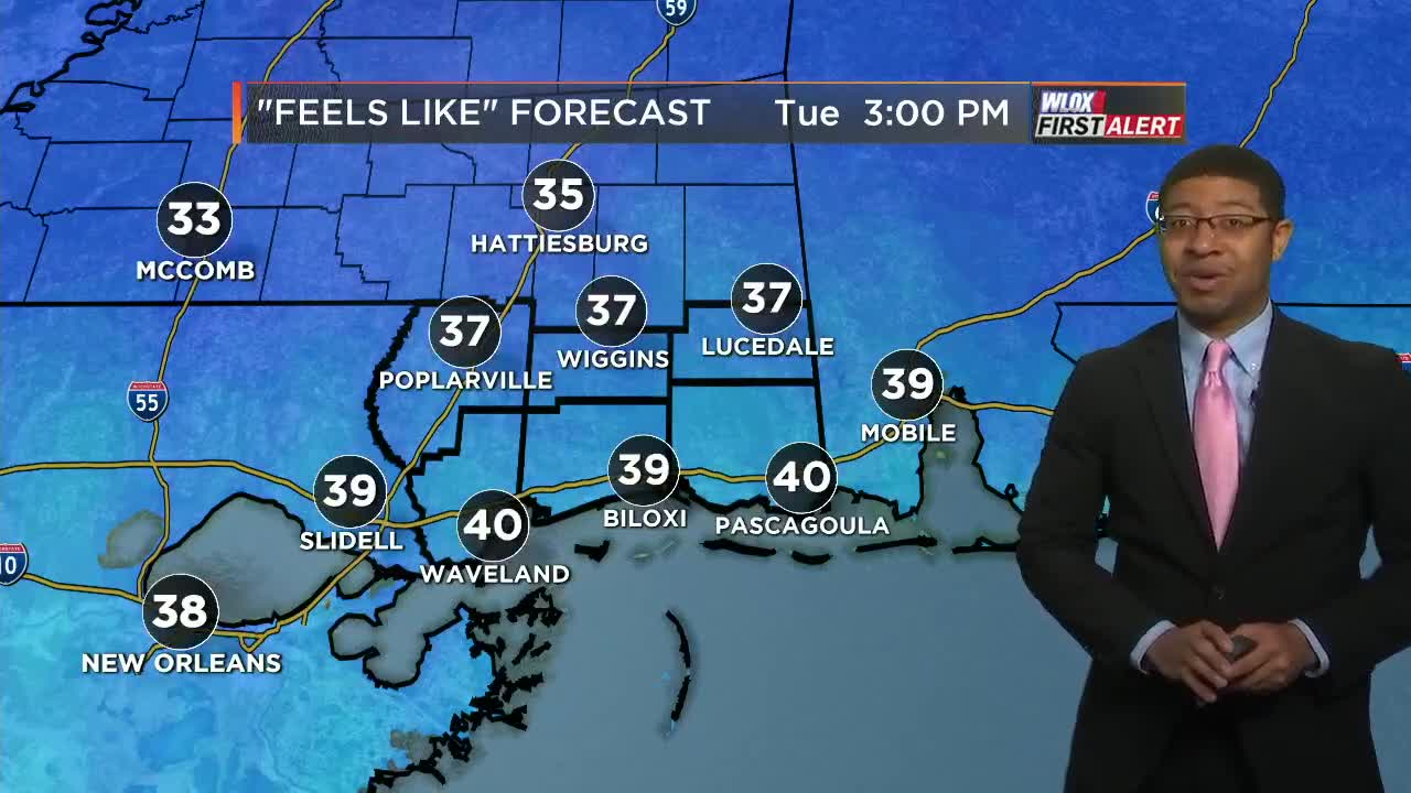 Windy and chilly Tuesday, freeze tonight