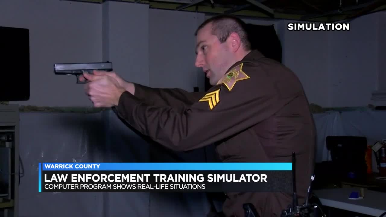 Law enforcement training simulator shows real-life situations