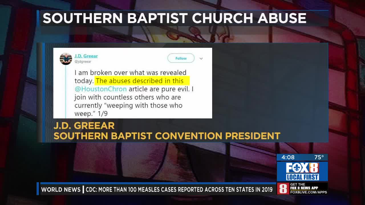 First Baptist says corrective steps are being taken after members