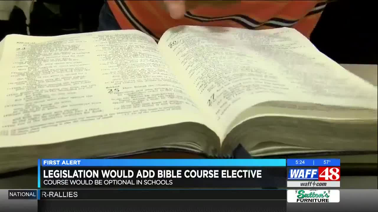 Alabama lawmakers file bill for elective Bible course in