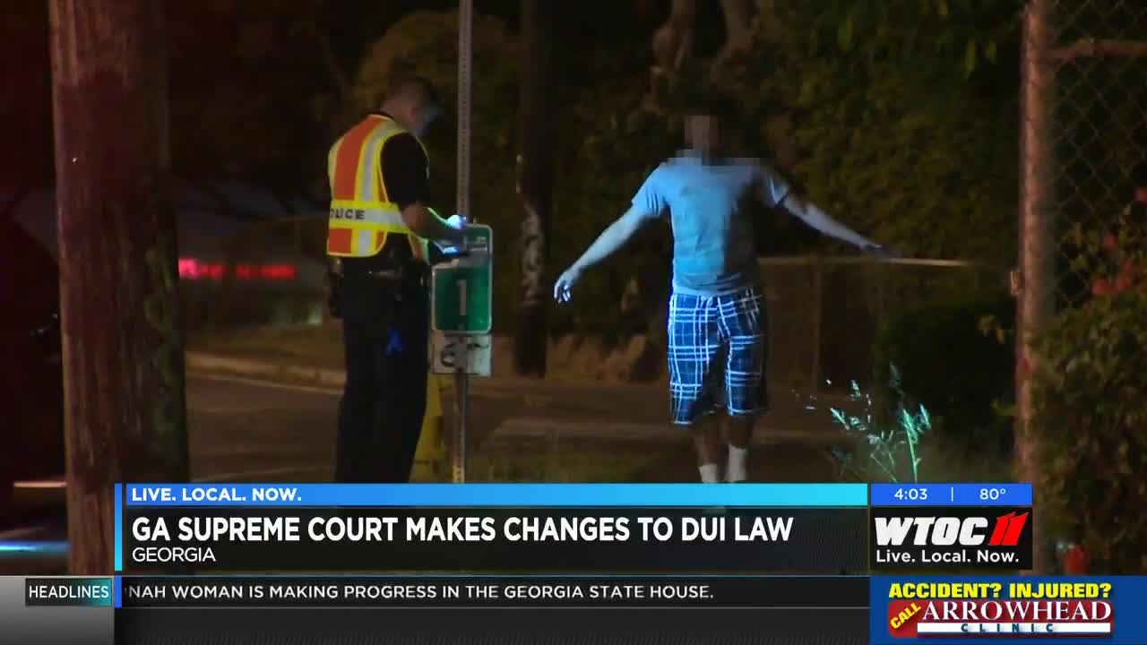 Ga Supreme Court Makes Changes To Dui Law