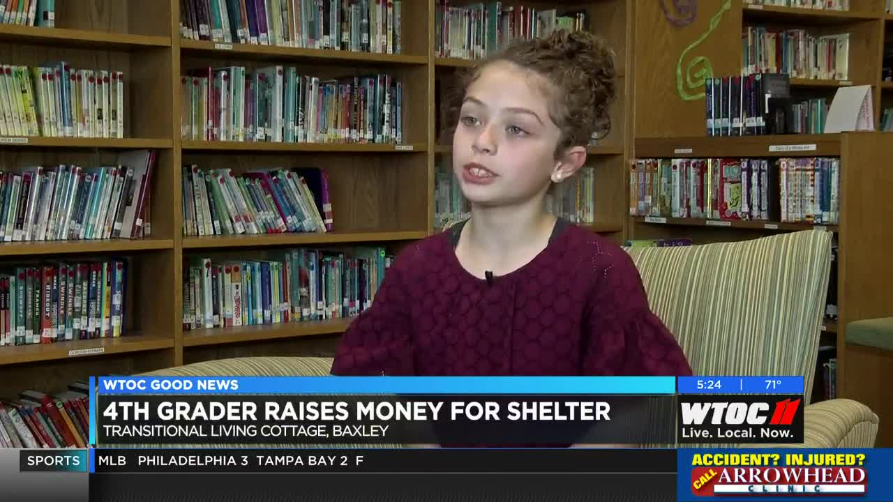 Good News: 4th Grader raises money for homeless shelter in Baxley