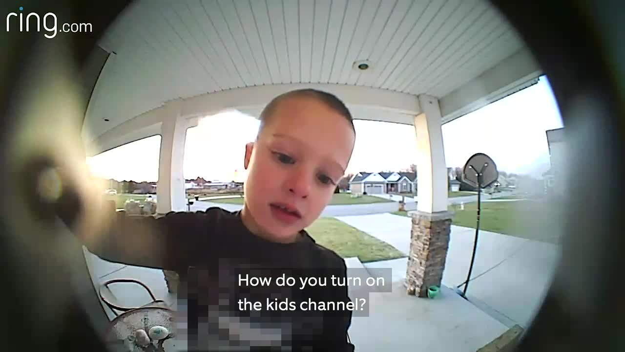 How do you turn on the Kid Channel?': Smart little boy Rings up dad