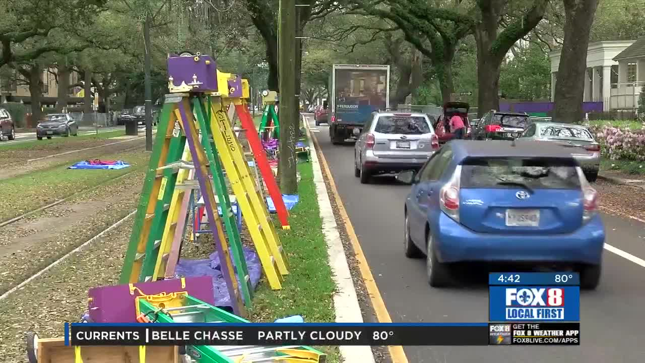 Ladders go up ahead of Carnival parades