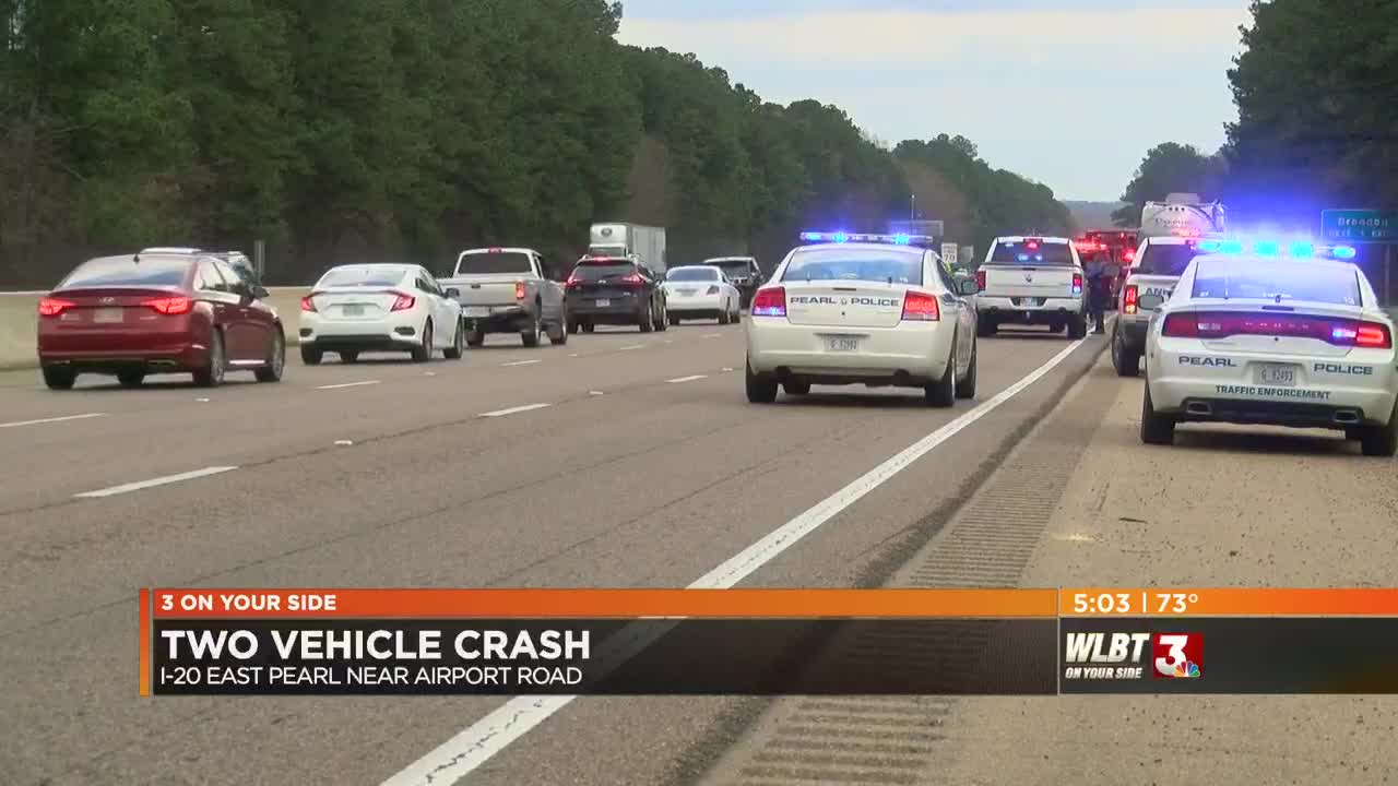 One killed after two vehicle crash on I-20 in Pearl
