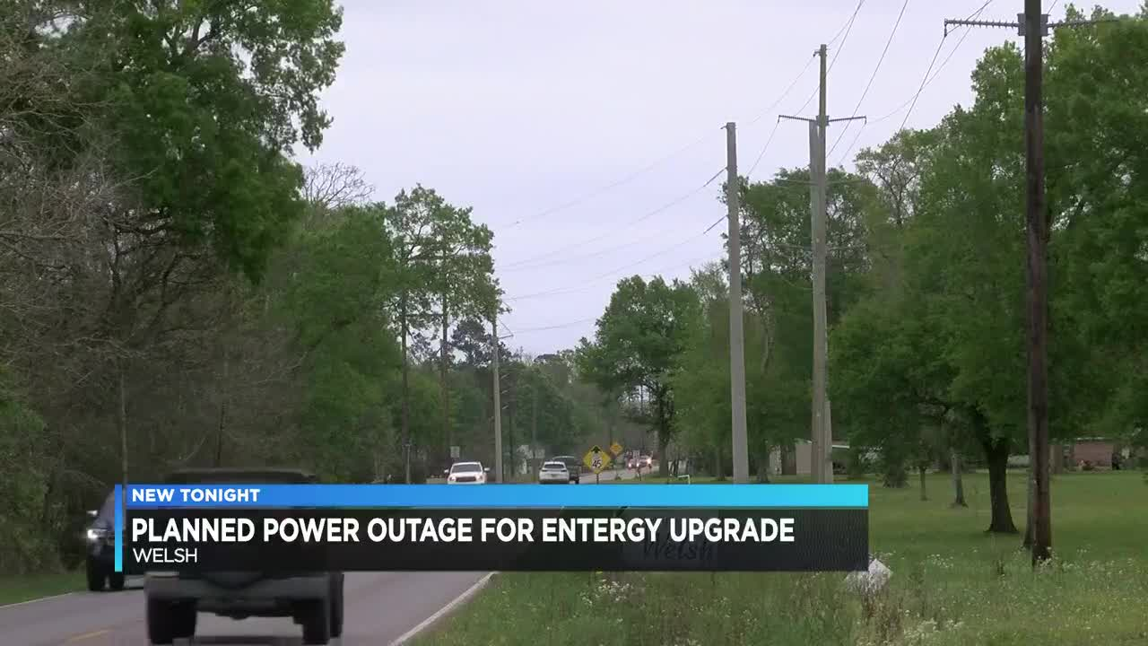 Scheduled power outage in Welsh for Entergy upgrades