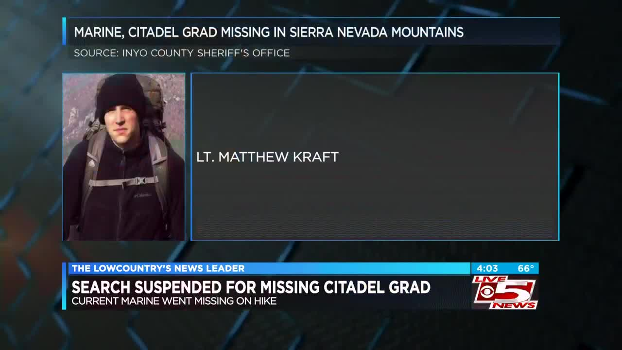Active search suspended for 2016 Citadel grad who went