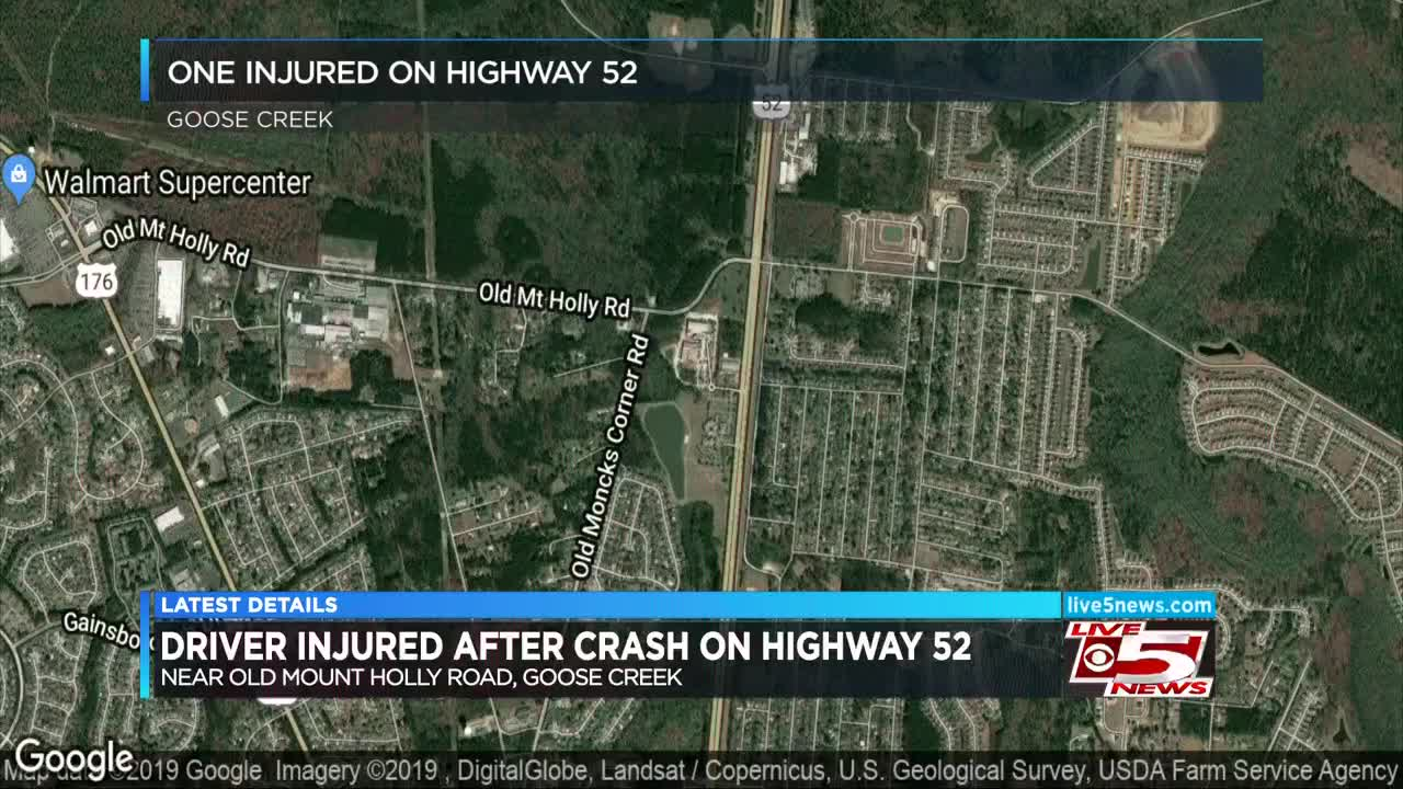 SCHP: One hospitalized after crash on US 52