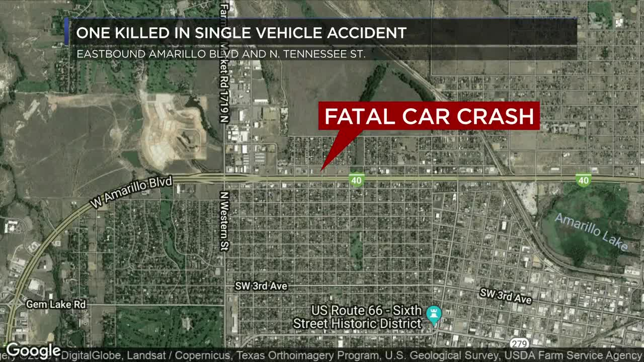 Woman identified after single-vehicle crash in Amarillo