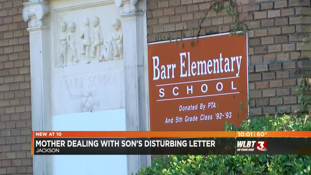 Jackson mother dealing with disturbing letter from son