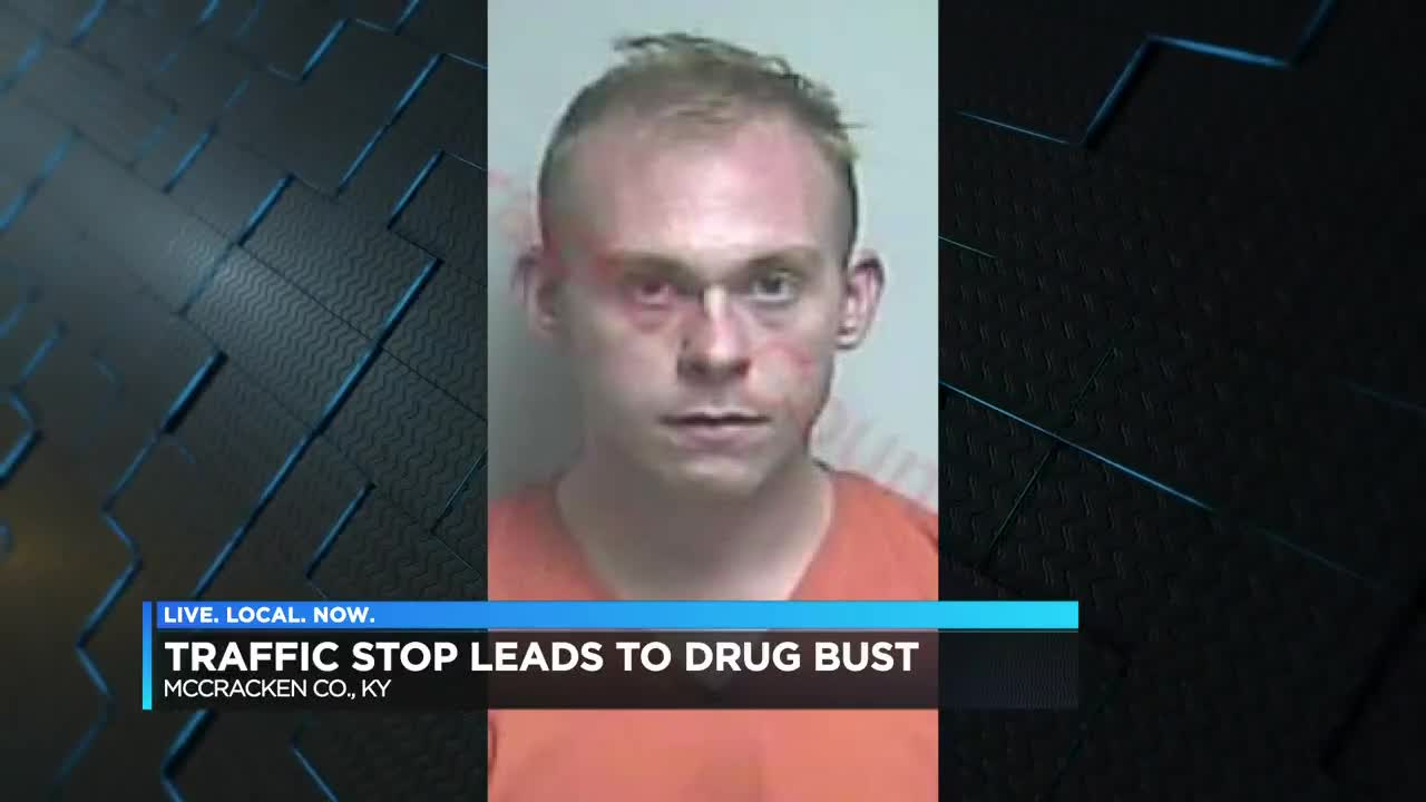 Vehicle stopped in Paducah, KY, man arrested on drug charges
