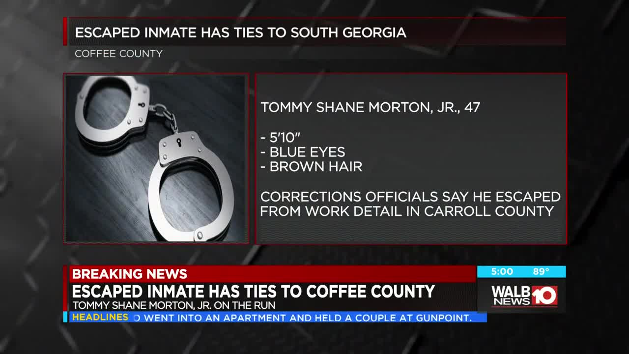 This escaped North GA inmate could be in South GA, reward