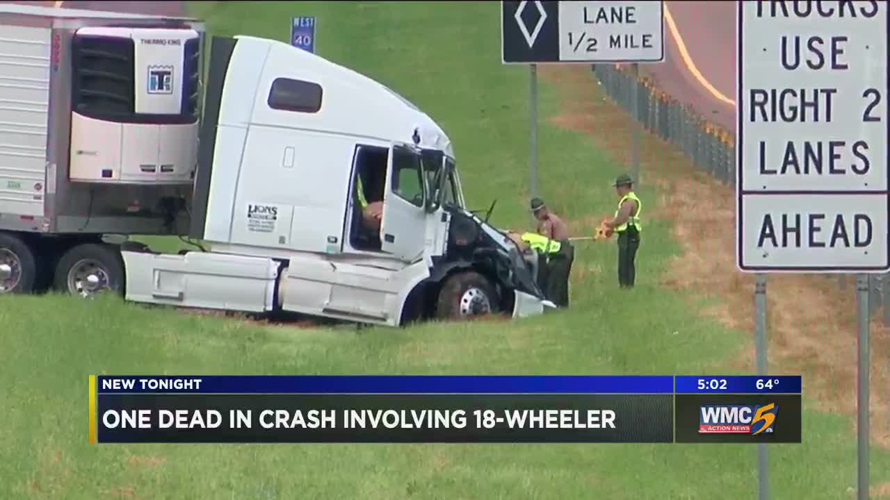 Man killed in head-on crash with 18-wheeler