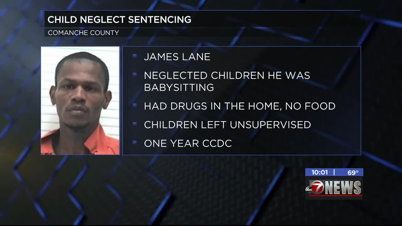 Lawton man sentenced for child neglect