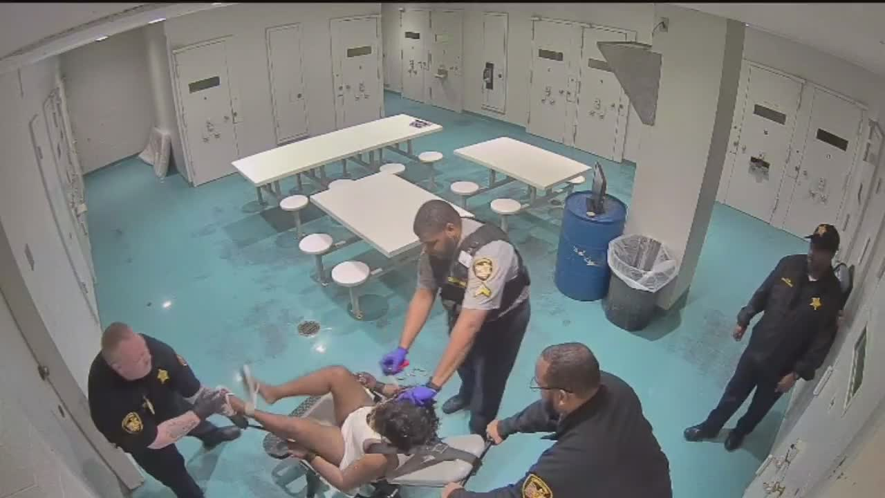 Video shows Cuyahoga County Jail officers hitting, using