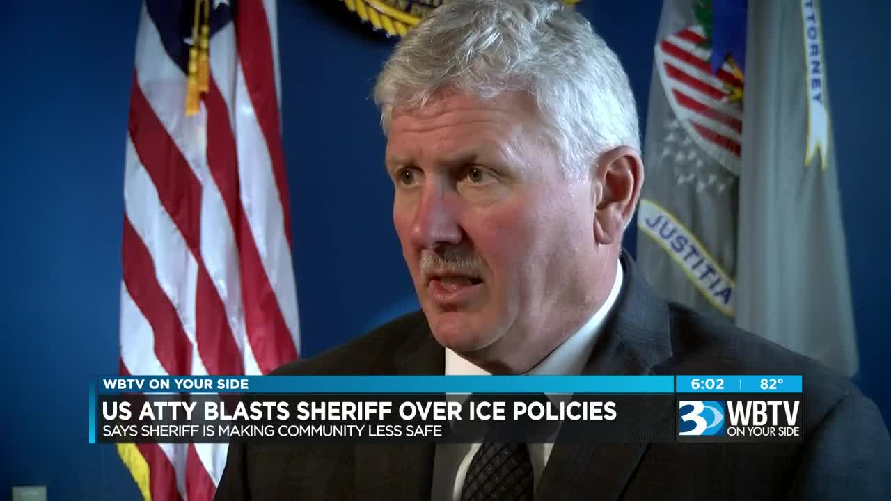 US Attorney critical of Mecklenburg Co  Sheriff over ICE