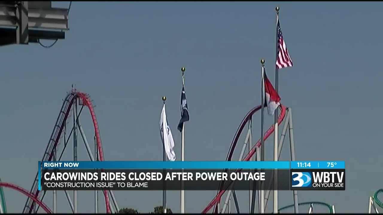 Multiple rides stopped at Carowinds due to brief power interruption