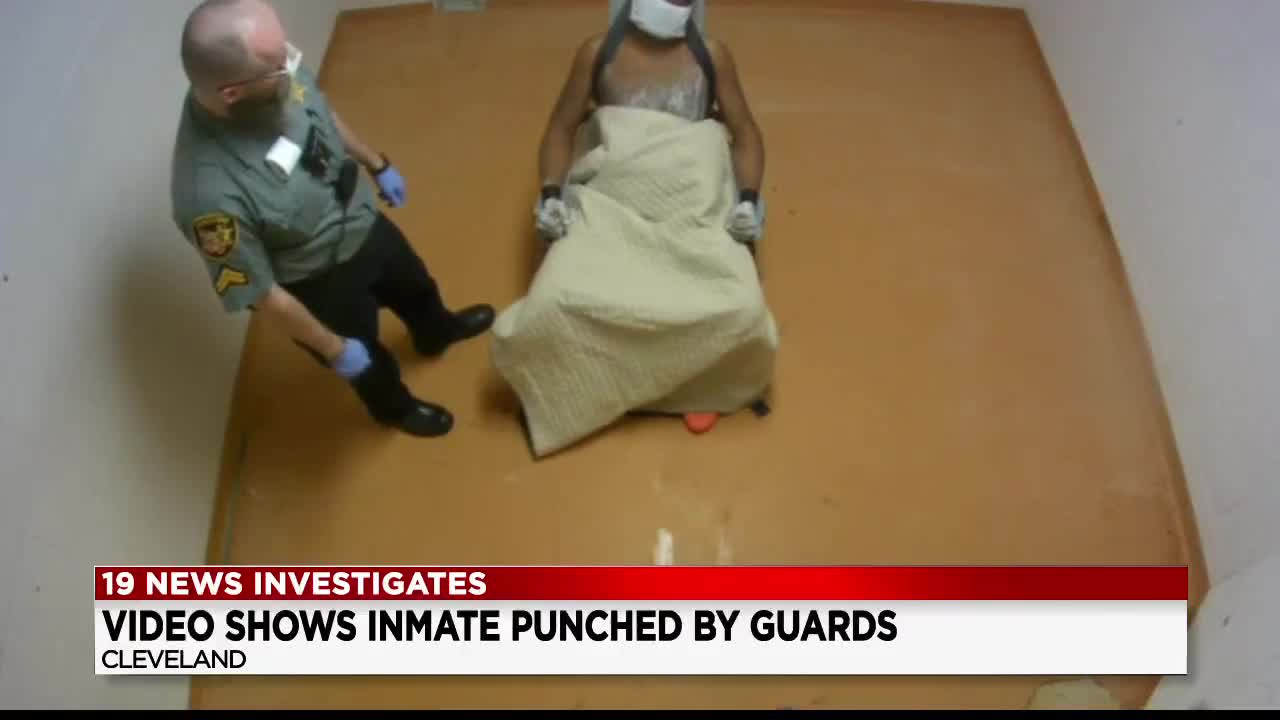 Inmate beating video released involving indicted Cuyahoga