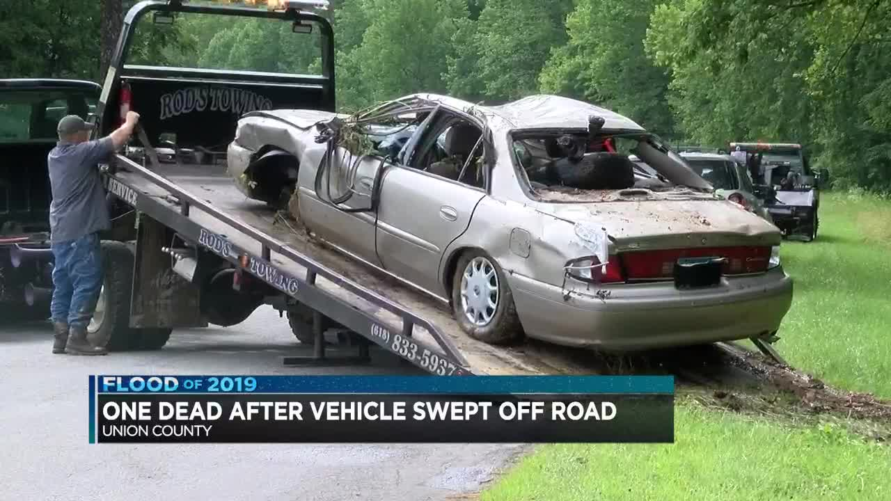 Woman found dead after vehicle swept away by floodwaters in Union Co