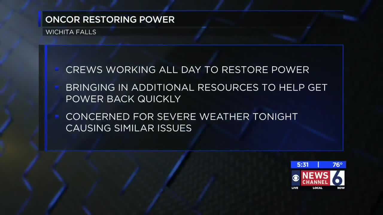 Overnight power outages keep Oncor crews busy