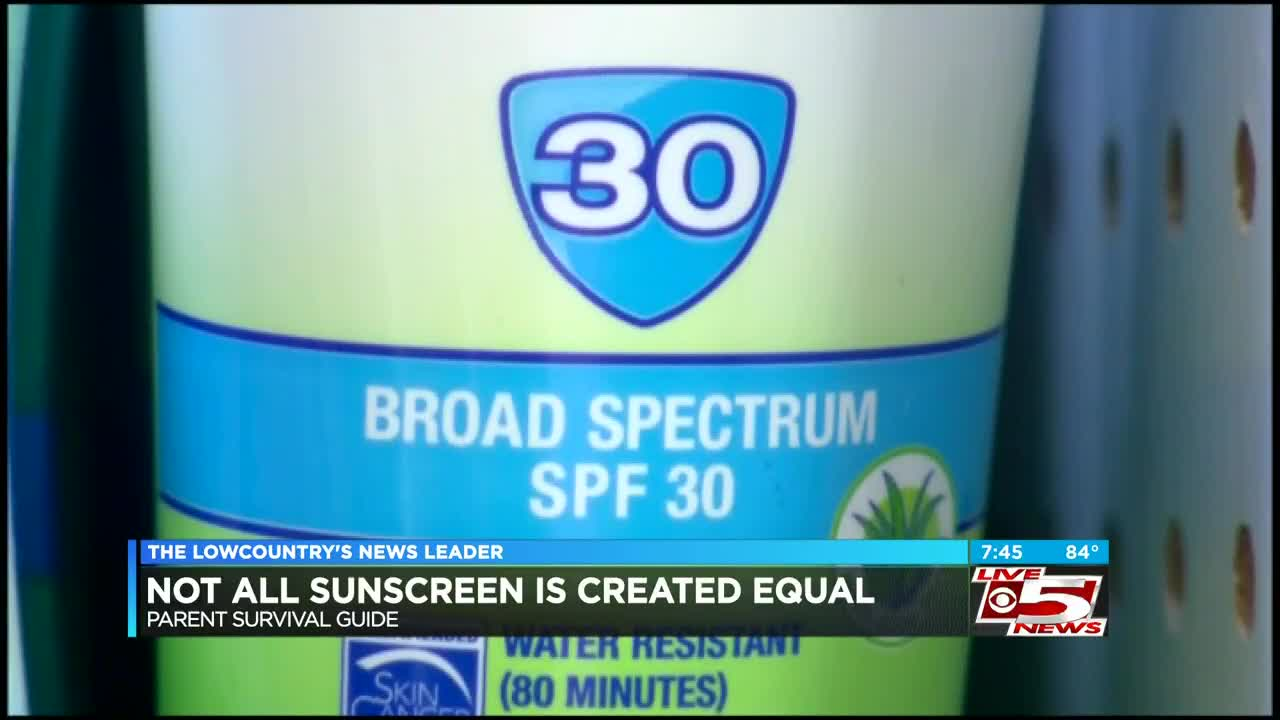 Parent Survival Guide: Not all sunscreen is created equal