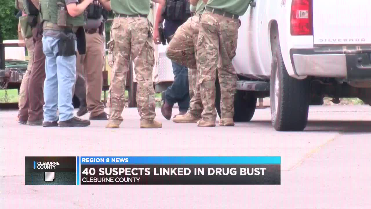 Cleburne County Sheriff's Office arrests 37 in drug busts