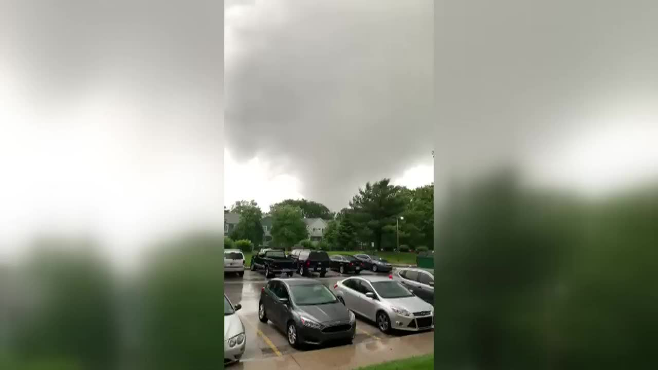 Tornado caught on camera in South Bend, In