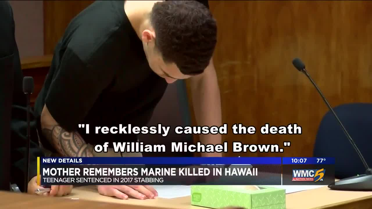 Mother of Marine stabbed to death in Hawaii speaks out after