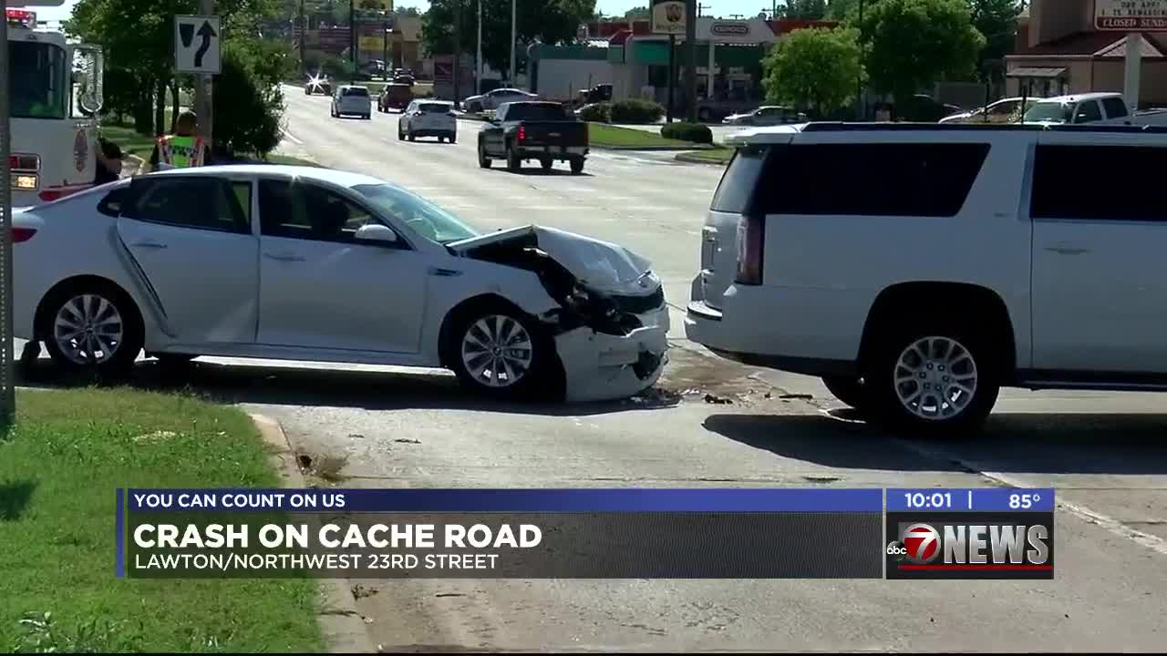 Two vehicles involved in crash on Cache Road