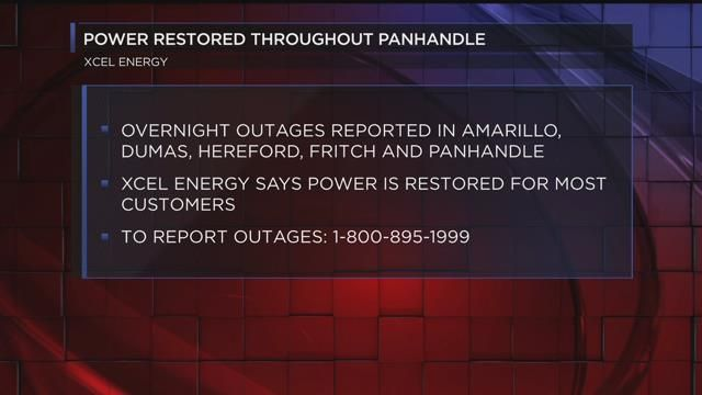 Power restored throughout the panhandle