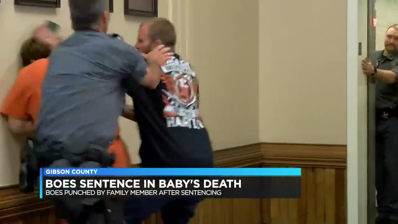 Man who pleaded guilty in baby's death punched by family