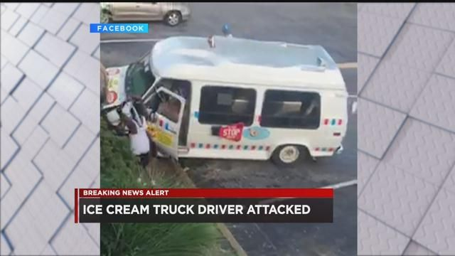 VIDEO: Men assault ice cream truck driver during robbery