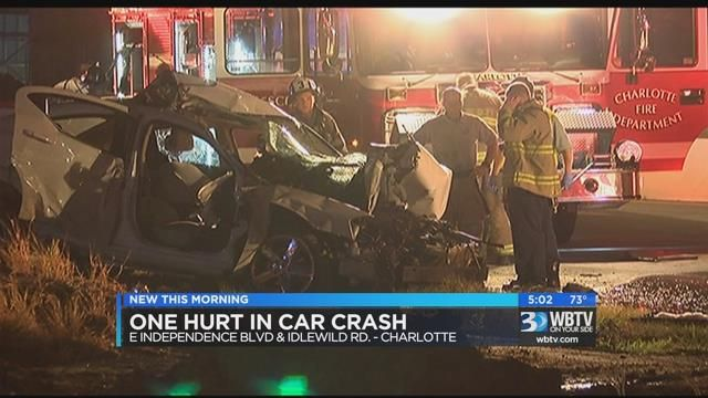 One hurt in southeast Charlotte accident