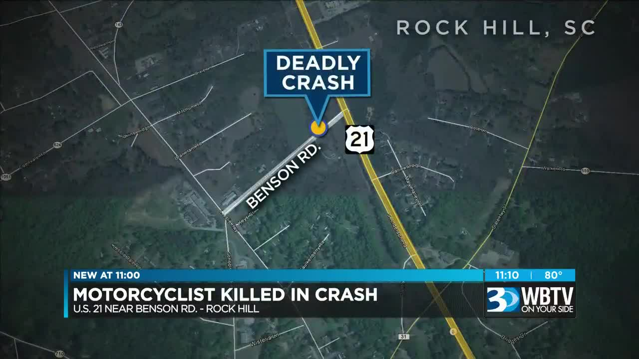 Motorcyclist killed in crash with SUV in Rock Hill