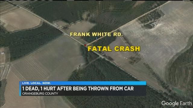 Crash in Orangeburg County leaves two ejected from car, one dead
