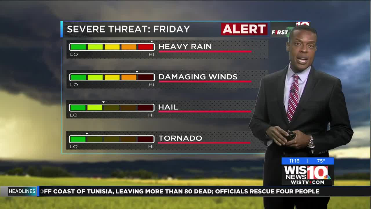 FIRST ALERT: Tracking more heavy rain and storms for your Friday!