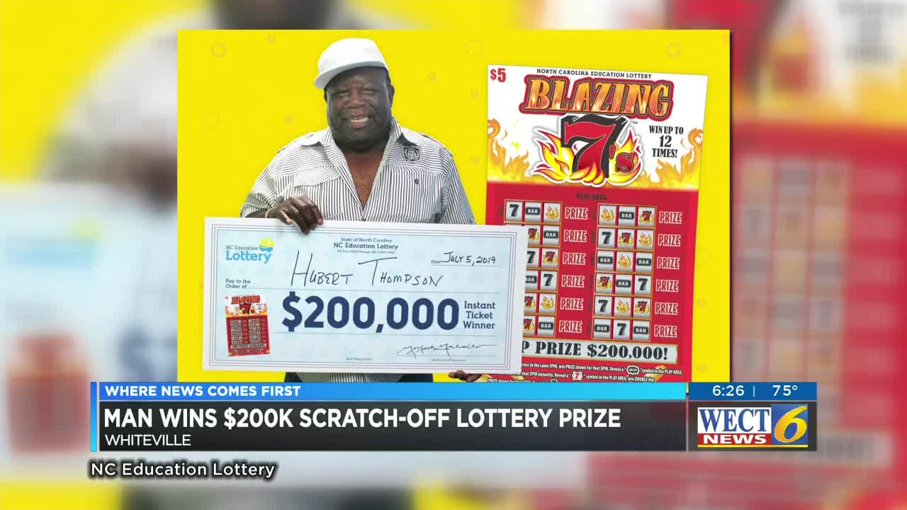 Whiteville truck driver nabs $200,000 scratch-off lottery prize