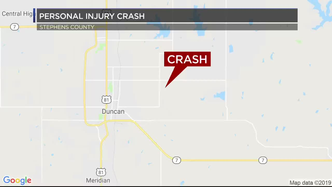 Five injured in Stephens Co  crash