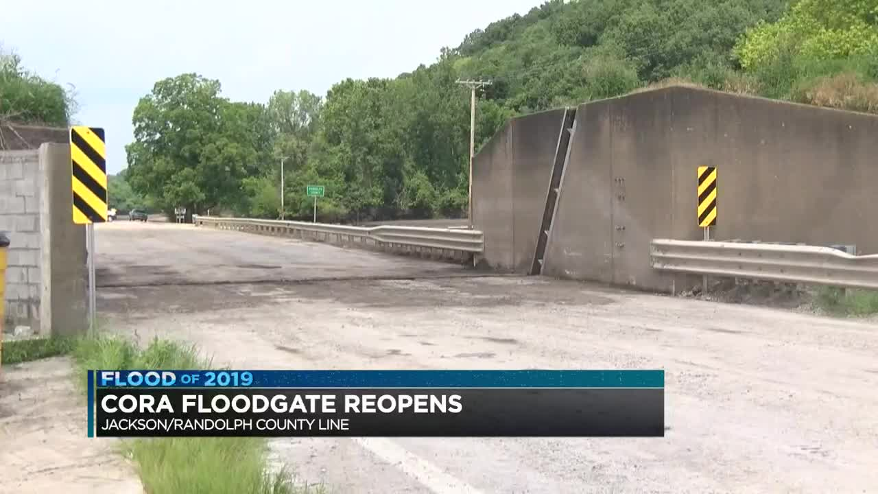 Ill  Route 3 at the Cora Levee reopened Tuesday