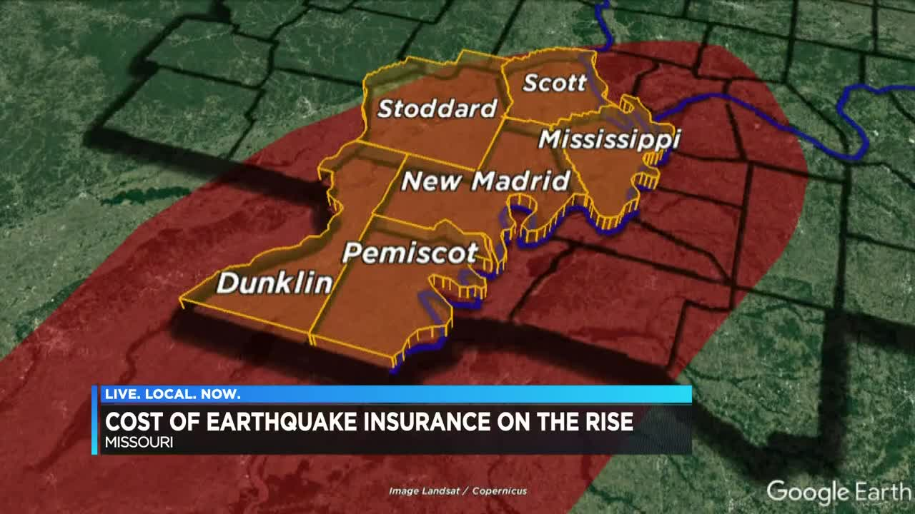 Earthquake insurance costs rising for homeowners near New ...